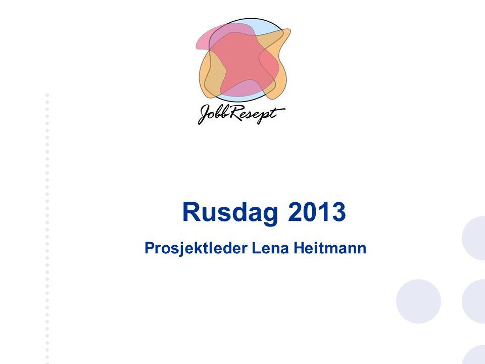 Rusdag 2013 Prosjektleder Lena Heitmann