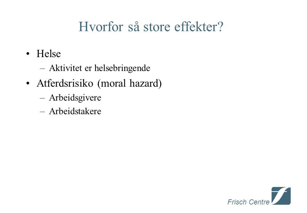Frisch Centre Hvorfor så store effekter.