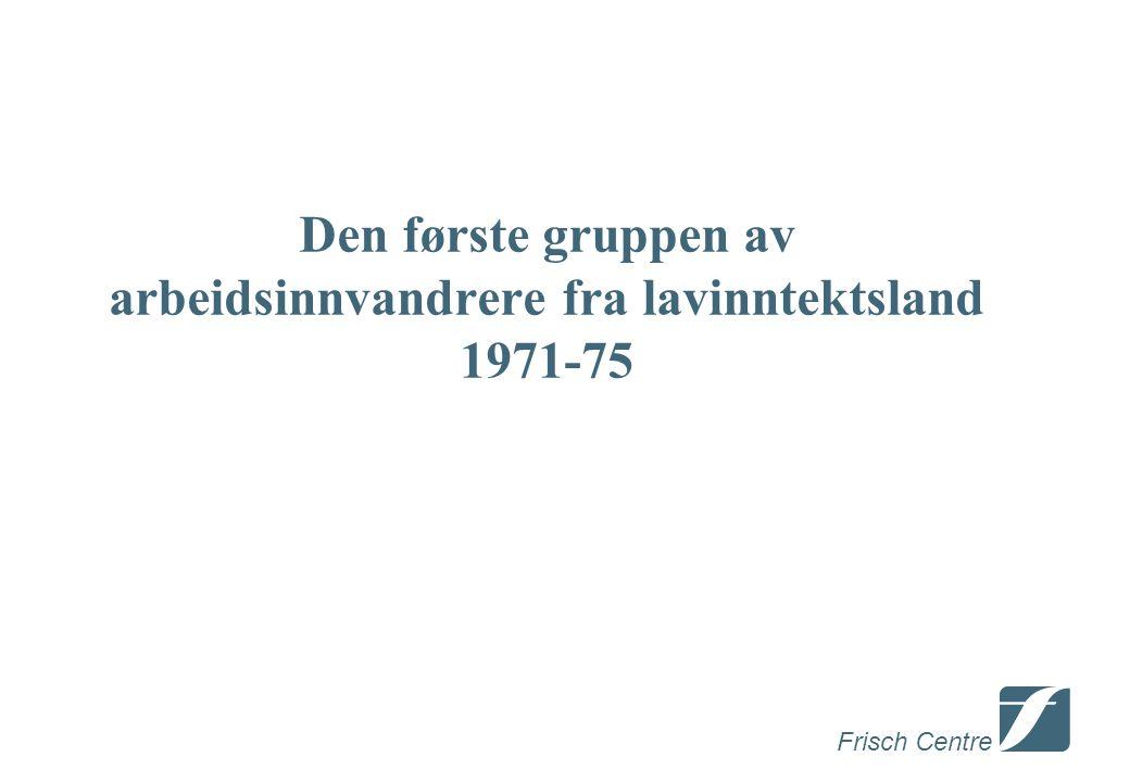 Frisch Centre Den første gruppen av arbeidsinnvandrere fra lavinntektsland 1971-75