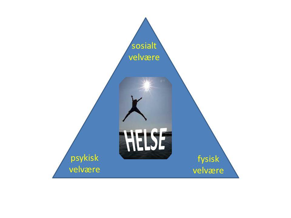 psykisk velvære fysisk velvære sosialt velvære