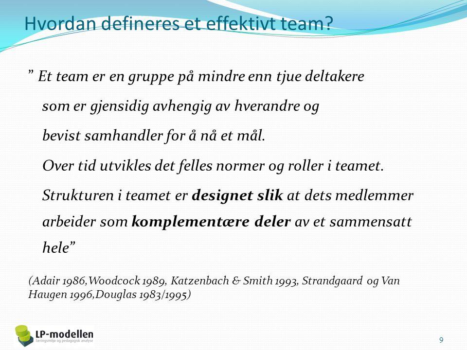 Hvordan defineres et effektivt team.
