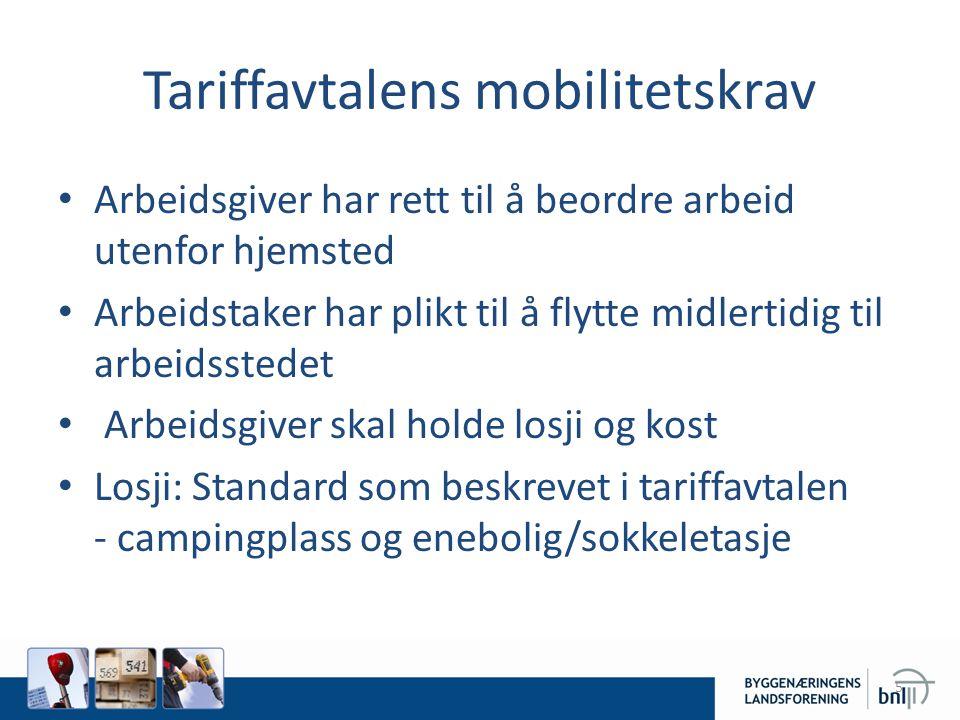 Utvikling • Endring etter Lillehammer 1994 • Arbeidsplasser uten innkvarterte arbeidstakere - mobile letthus • Bevegelig arbeid - lagbiler 6