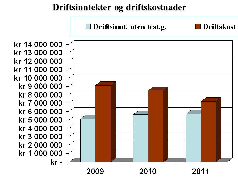 Driftsinntekter og driftskostnader