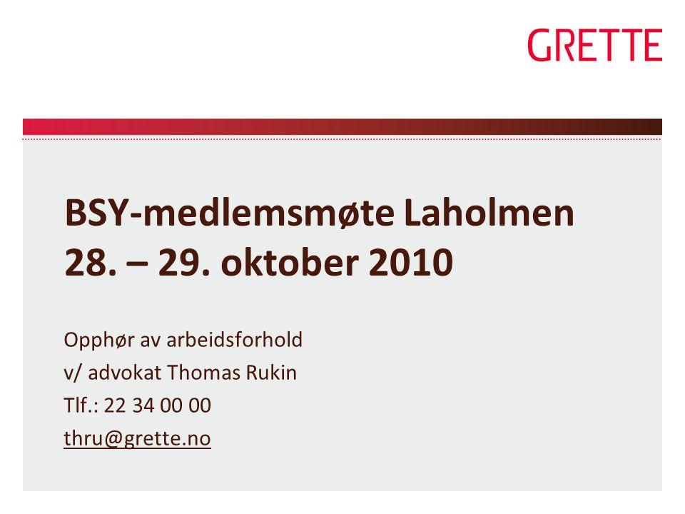BSY-medlemsmøte Laholmen 28.– 29.