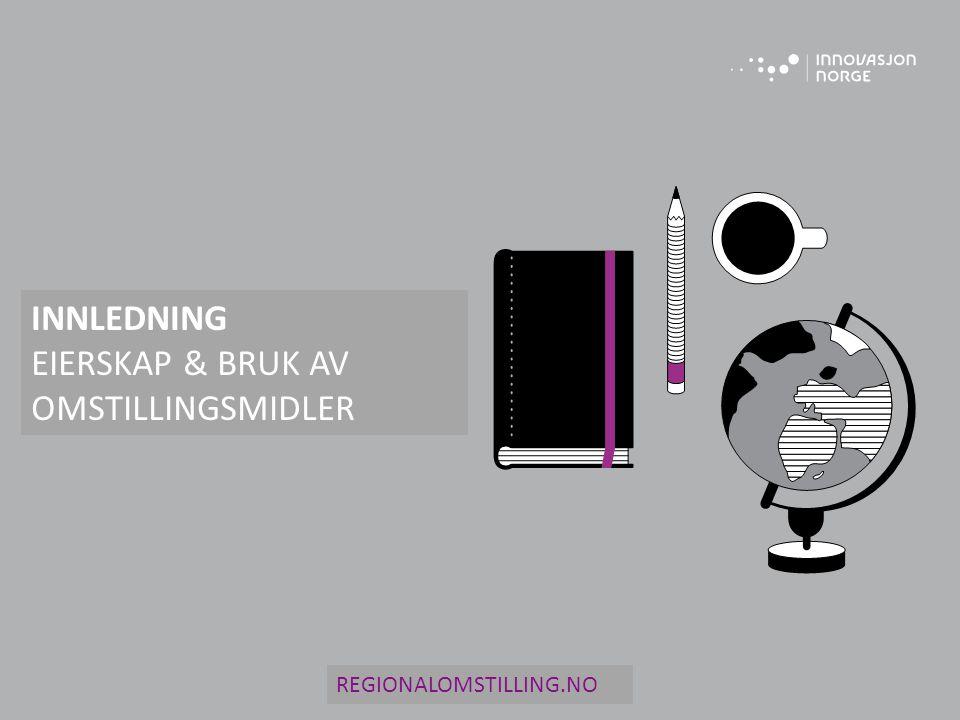 INNLEDNING EIERSKAP & BRUK AV OMSTILLINGSMIDLER REGIONALOMSTILLING.NO