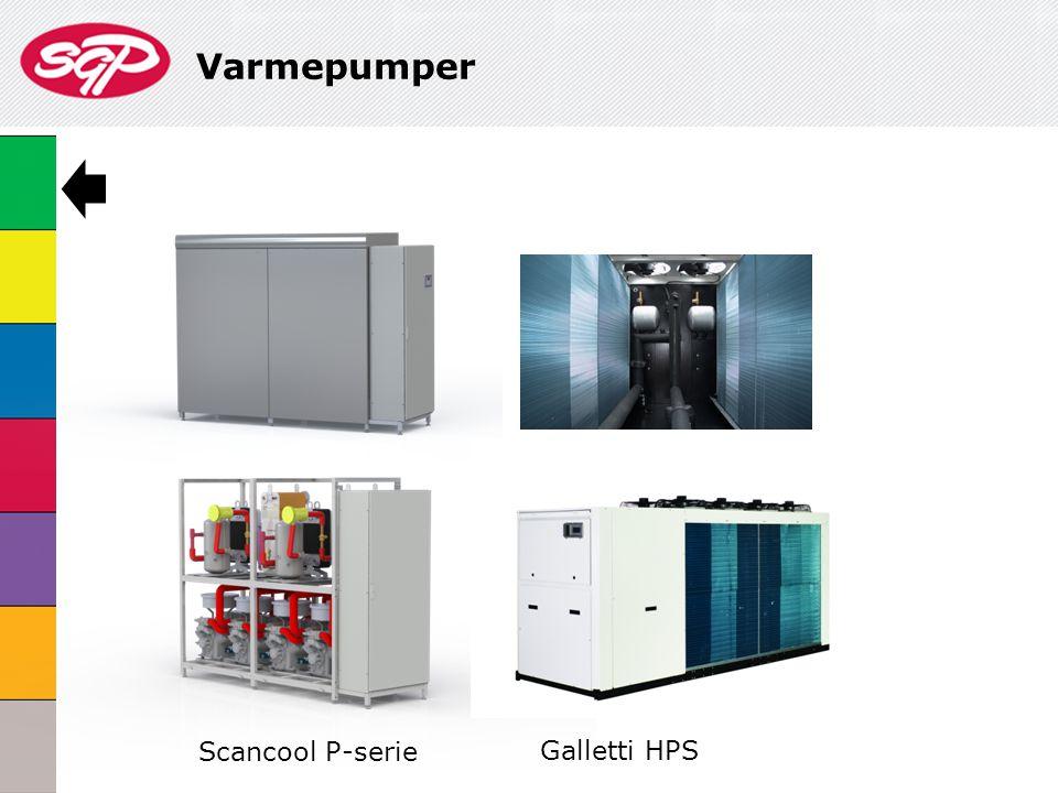 Varmepumper Scancool P-serie Galletti HPS