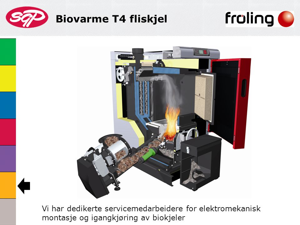 Biovarme T4 fliskjel Vi har dedikerte servicemedarbeidere for elektromekanisk montasje og igangkjøring av biokjeler