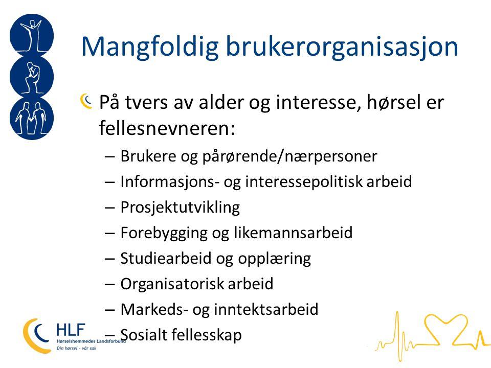 HLFs visjon Visjon: Gjøre hverdagen lettere for landets hørselshemmede, og forebygge hørselstap og hørselsskader i befolkningen.