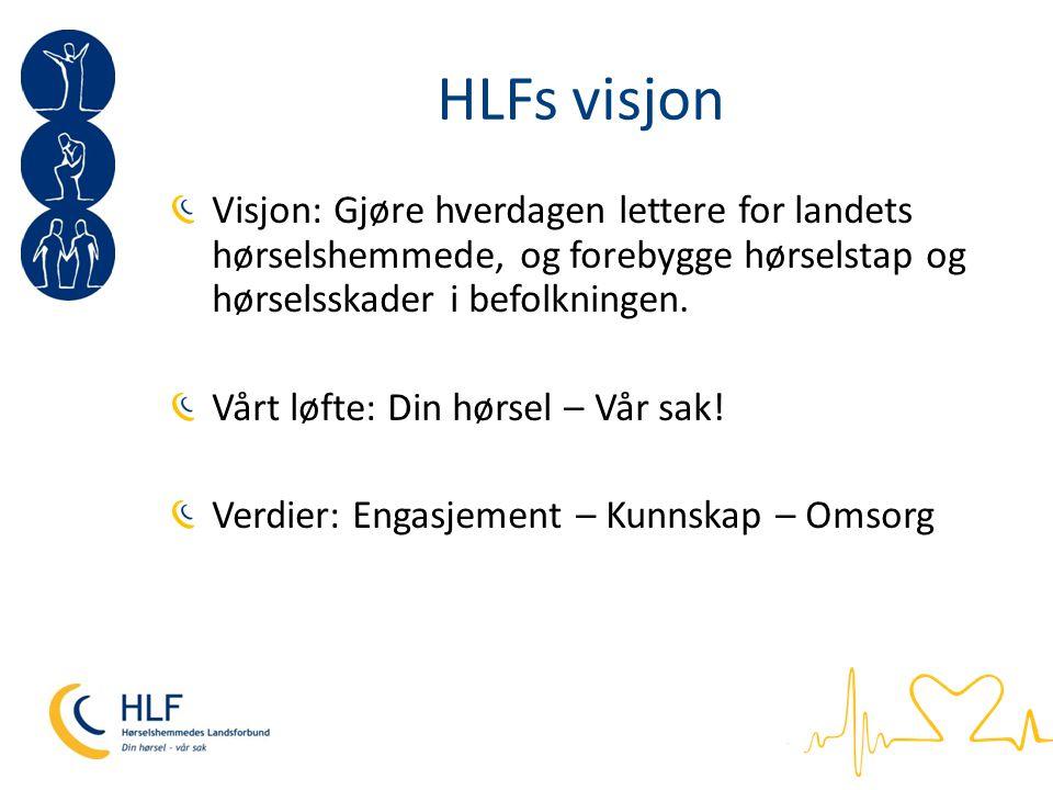 HLFs handlingsprogram 2012-2015 To fokusområder: 1) Forebygging 2) Rehabilitering Fem tiltaksområder: Interessepolitikk Likemannsarbeid Organisasjon HLF Briskeby Forskning og utviklingsarbeid