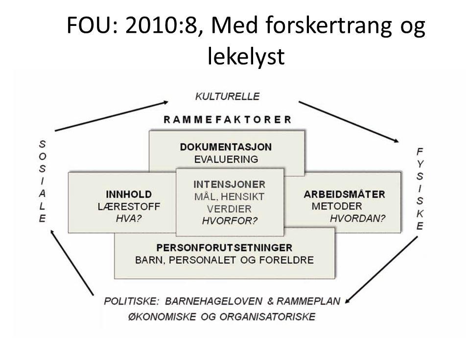 FOU: 2010:8, Med forskertrang og lekelyst