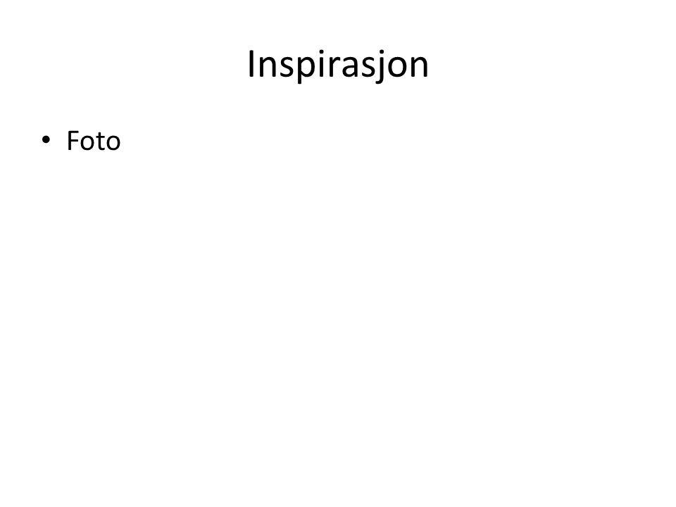 Inspirasjon • Foto