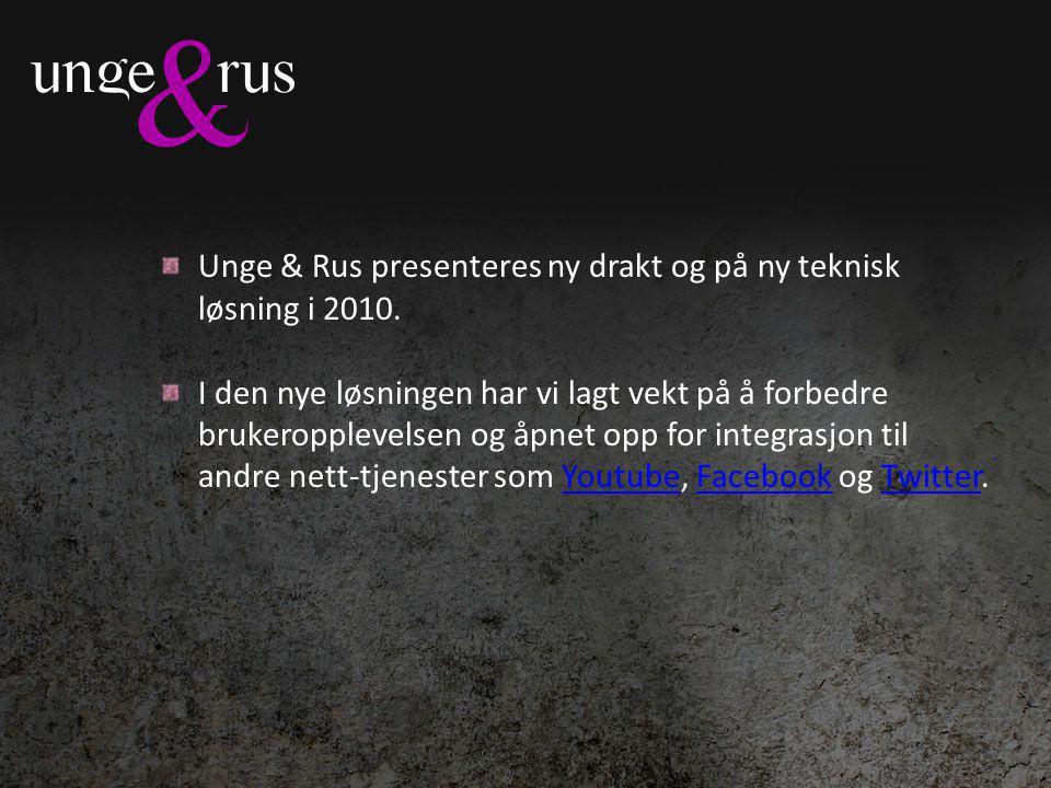 Unge & Rus presenteres ny drakt og på ny teknisk løsning i 2010.
