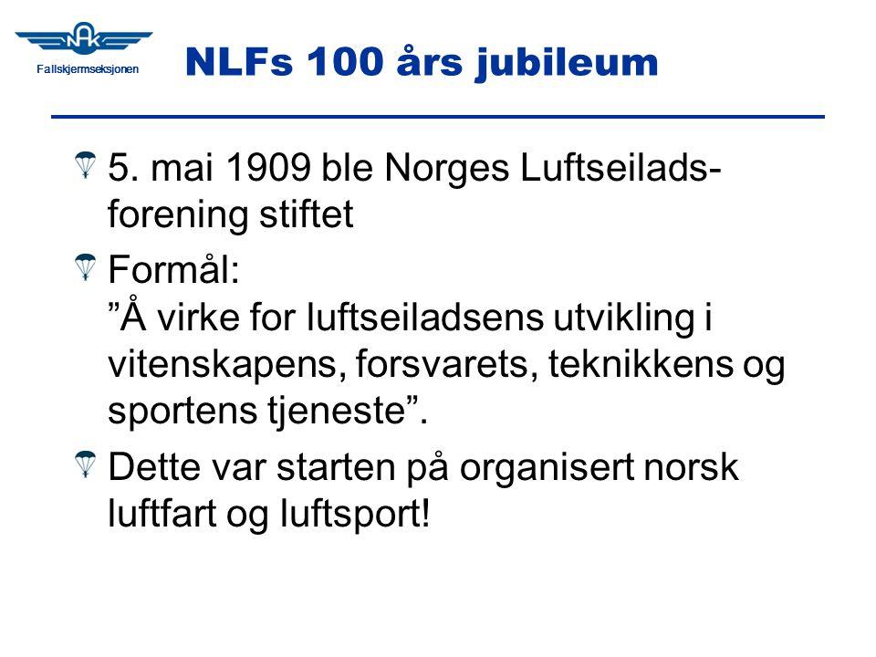 Fallskjermseksjonen NLFs 100 års jubileum 5.