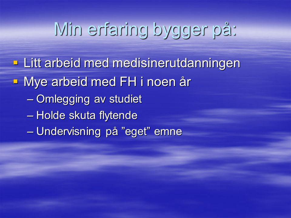 Forventninger til undervisningsstøtte ved ISM Oppstartsseminar 28.10.09 Ragnar Hotvedt