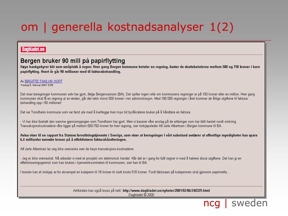 ncg | sweden •…•… om | generella kostnadsanalyser 1(2)