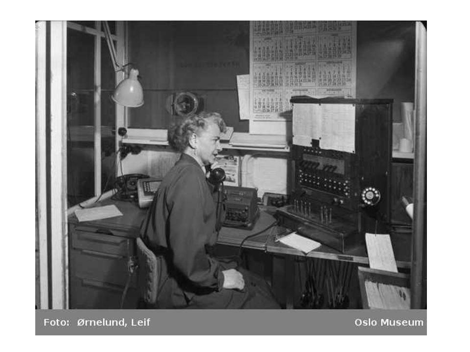• Samfunnet forandret seg fort på denne tiden, og det var stort behov for ny arbeidskraft. • Mange kvinner begynte å jobbe på telegrafen eller telefon
