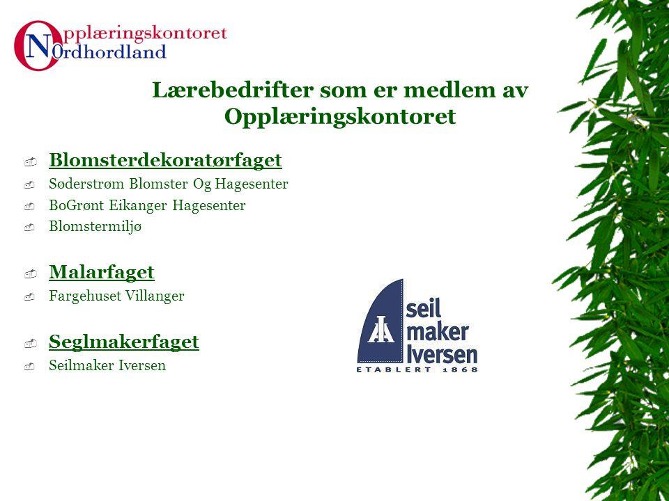 Lærebedrifter som er medlem av Opplæringskontoret  Blomsterdekoratørfaget  Søderstrøm Blomster Og Hagesenter  BoGrønt Eikanger Hagesenter  Blomste
