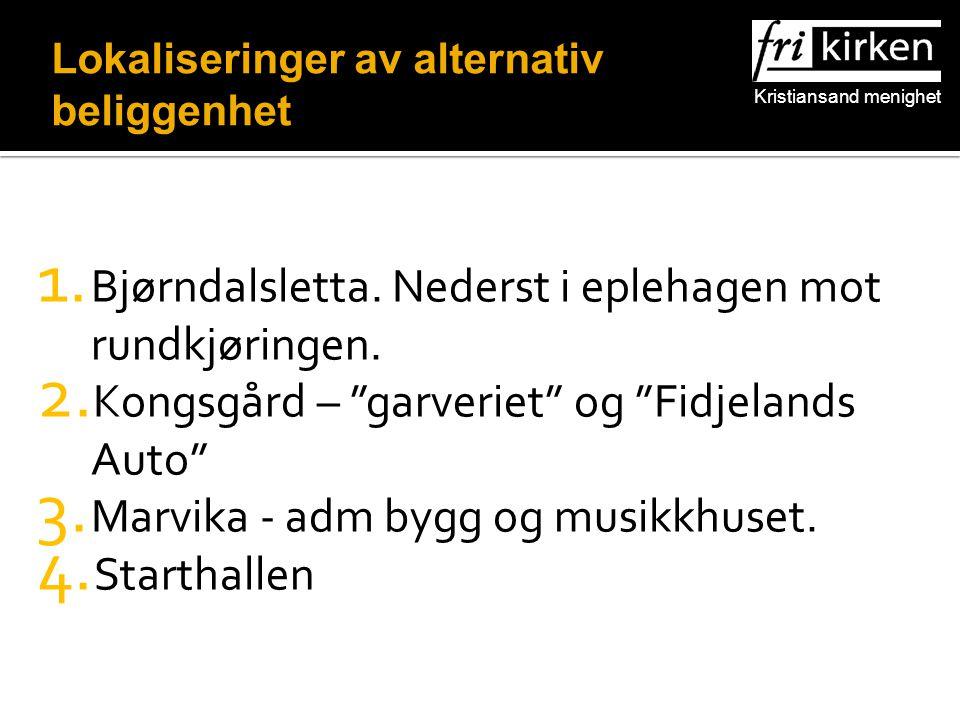 Kristiansand menighet 1. Bjørndalsletta. Nederst i eplehagen mot rundkjøringen.