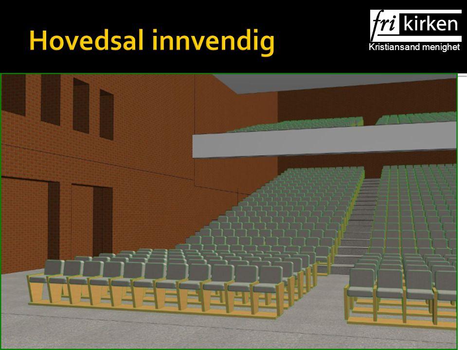 Kristiansand menighet Hovedsal innvendig