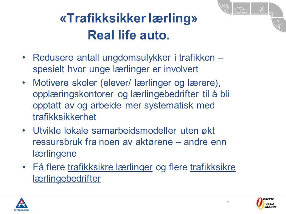 7 «Trafikksikker lærling» Real life auto.