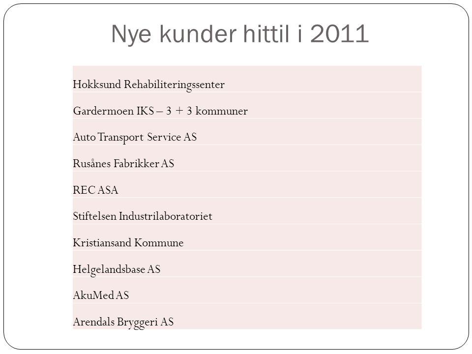 Hokksund Rehabiliteringssenter Gardermoen IKS – 3 + 3 kommuner Auto Transport Service AS Rusånes Fabrikker AS REC ASA Stiftelsen Industrilaboratoriet
