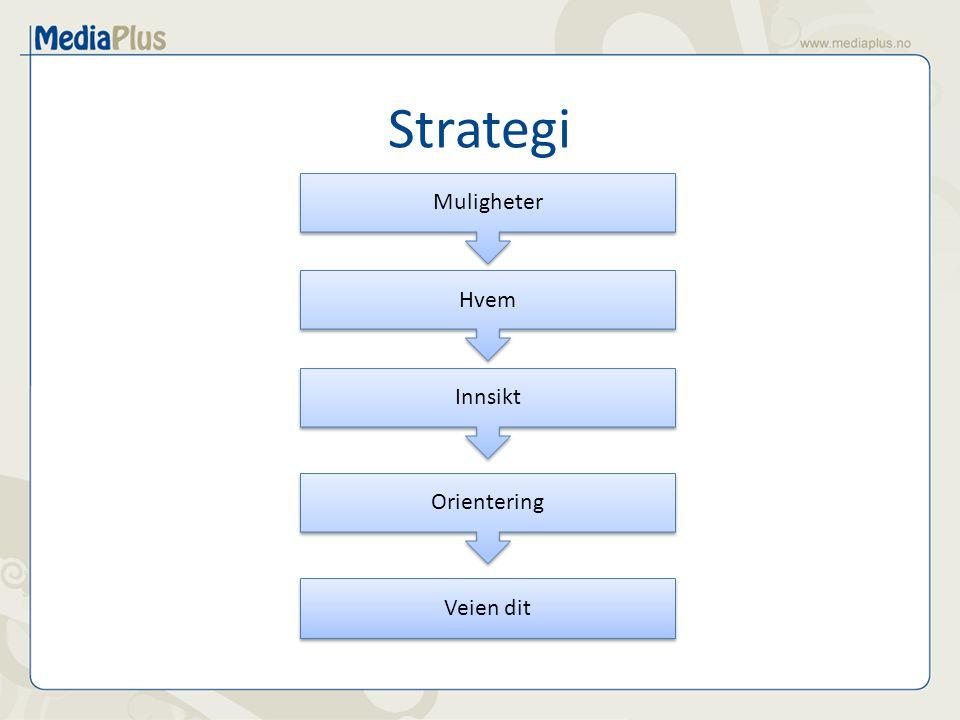 Strategi Muligheter Hvem Orientering Innsikt Veien dit
