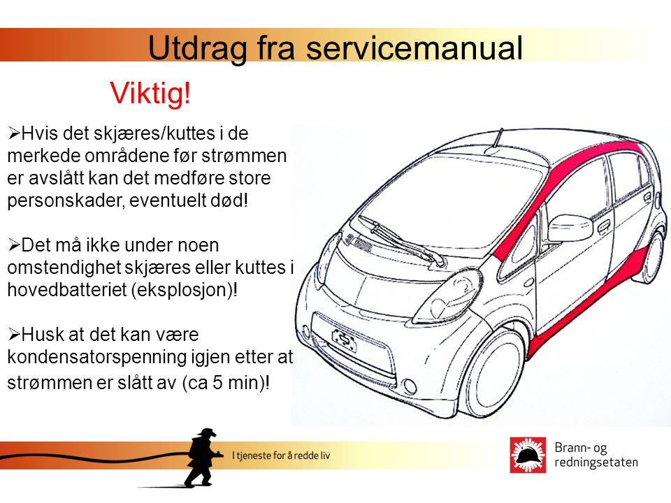 Utdrag fra servicemanual Viktig.