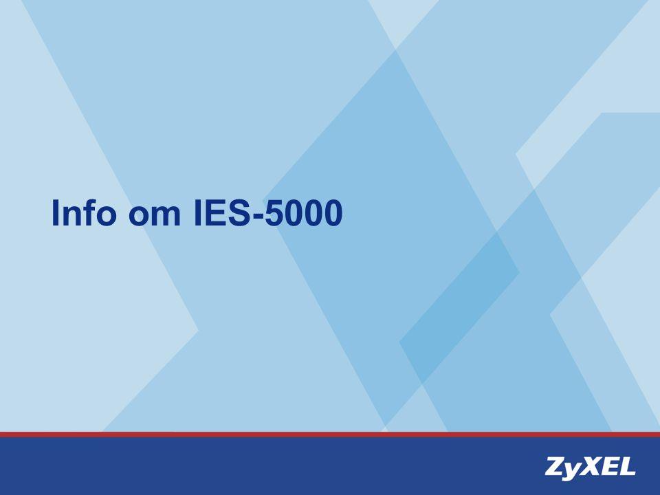 Port-setup via telnet IES-5000> port adsl set Usage: set : example 3-*, 3-3~5,10~15 : adsl profile name : gdmt, etsi, auto, adsl2, adsl2+ IES-5000> port adsl set 4-1~10,15~20 Max auto
