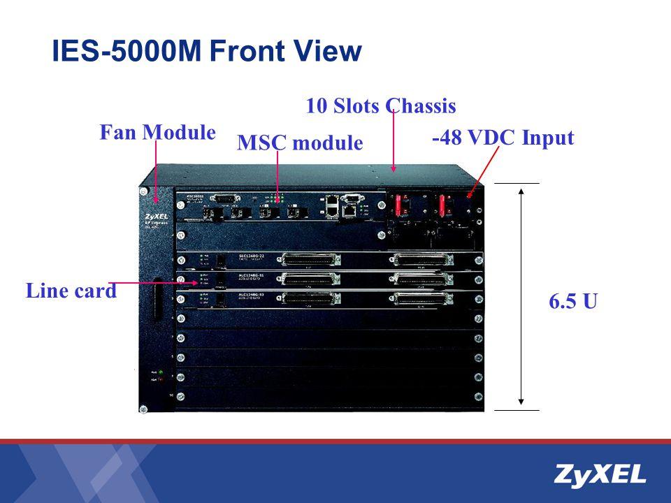 10 Slots Chassis 6.5 U -48 VDC Input Fan Module IES-5000M Front View MSC module Line card