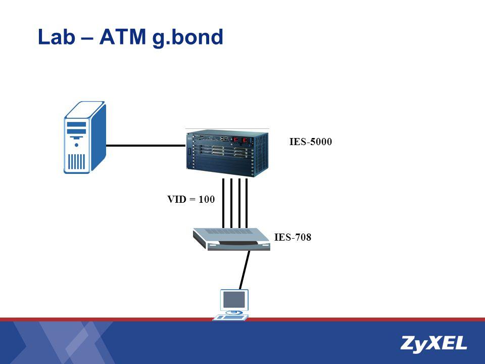 Lab – ATM g.bond IES-5000 IES-708 VID = 100