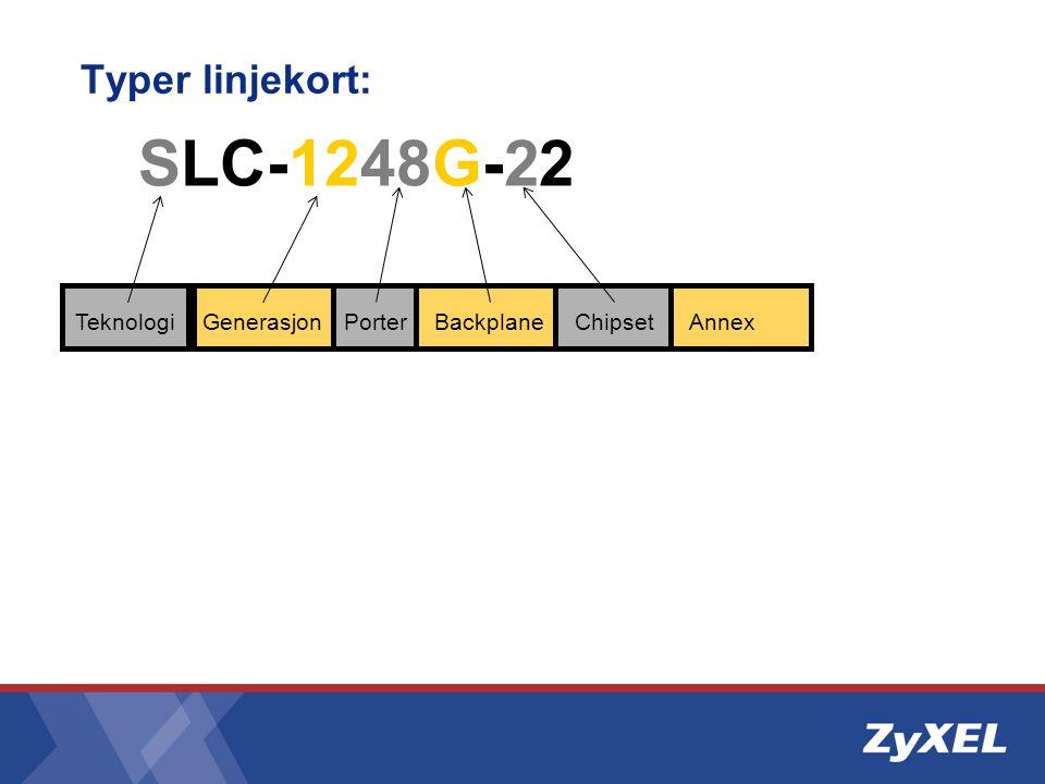 Typer linjekort: •ALC-1248G-53 •SLC-1248G-22 •SLC-1348G-22 •VLC-1324G-53 •VLC-1348G-53 •VLC-1424G-56 •ELC-1220G-55