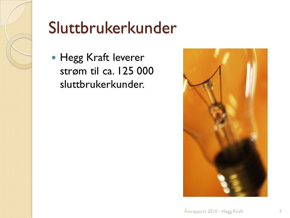 Sluttbrukerkunder  Hegg Kraft leverer strøm til ca.
