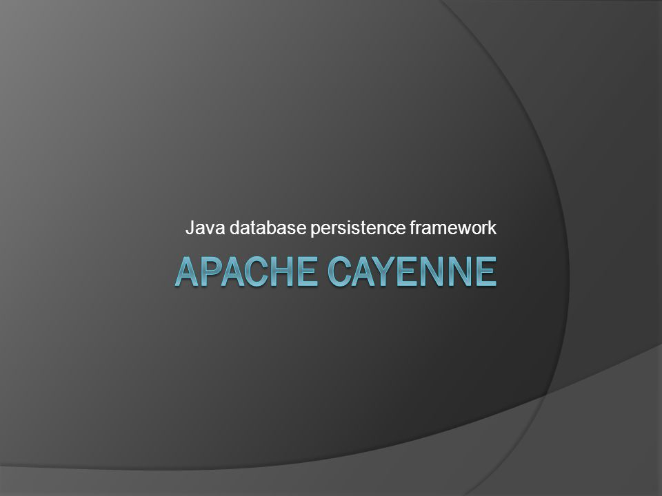 Java database persistence framework