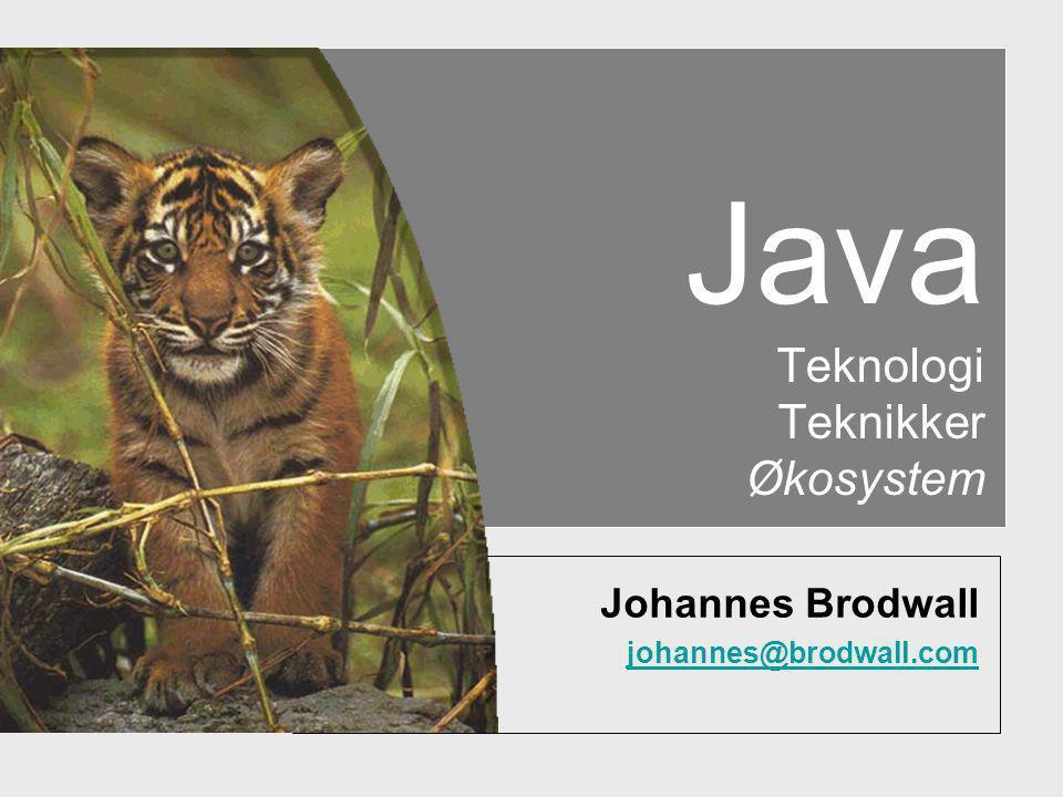 Java Teknologi Teknikker Økosystem Johannes Brodwall johannes@brodwall.com