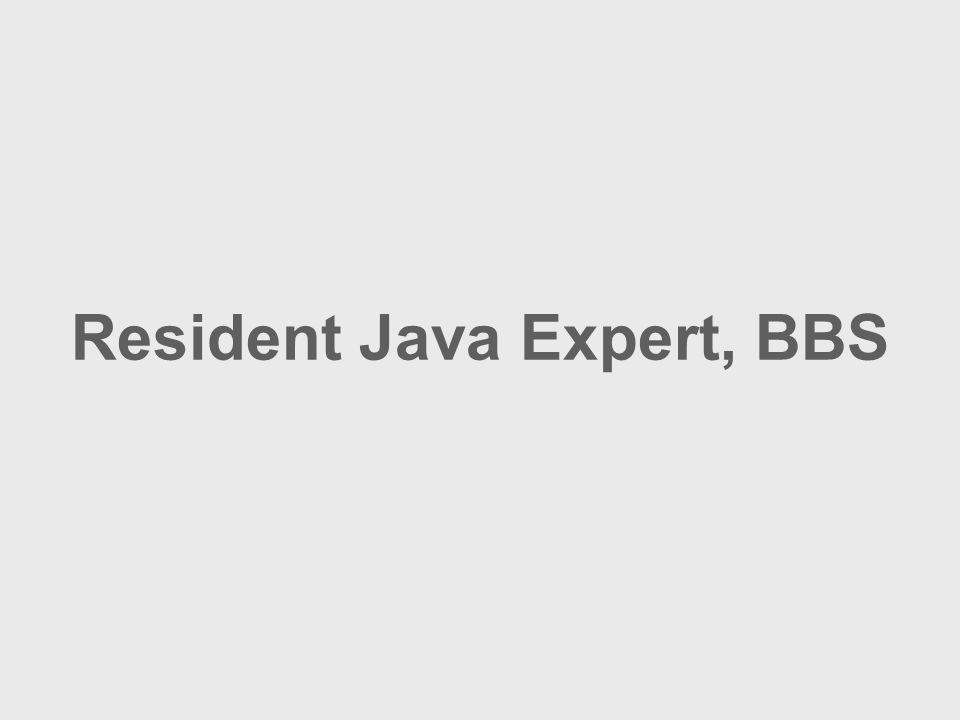 Resident Java Expert, BBS