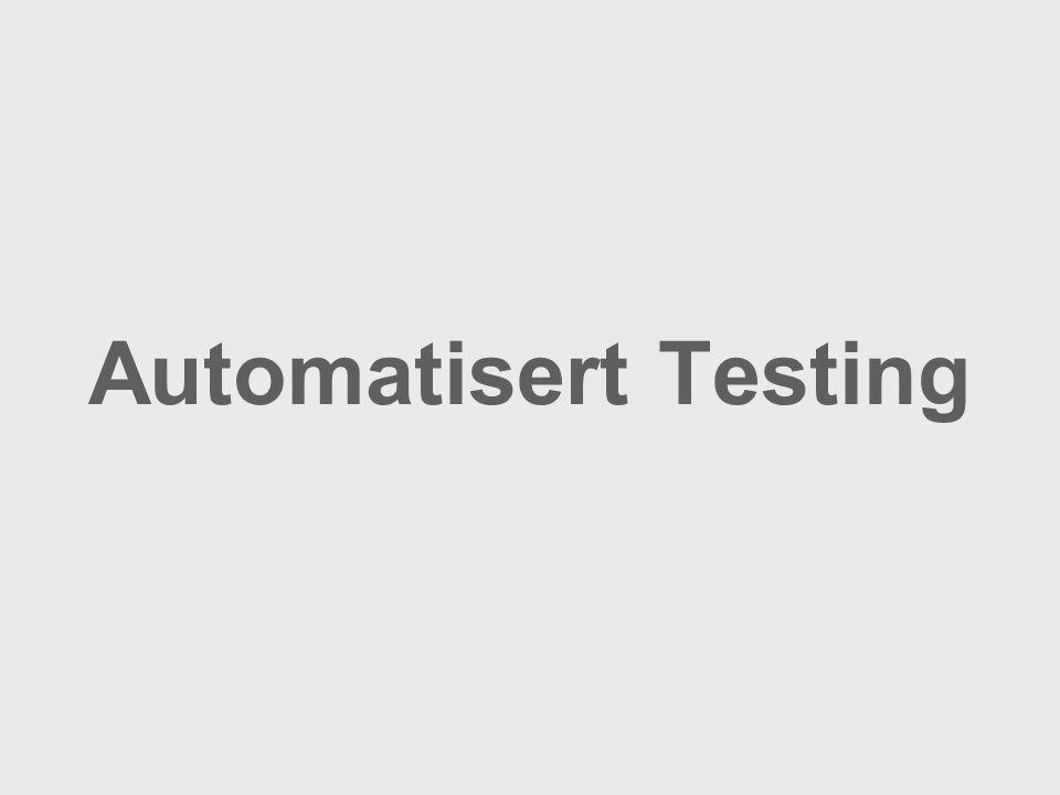 Automatisert Testing
