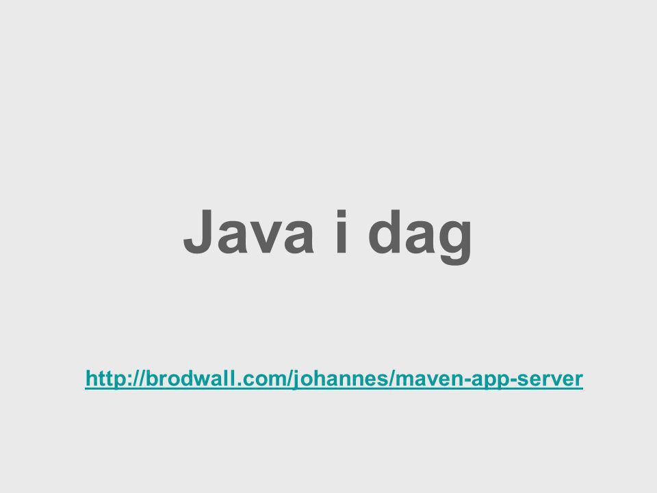 Java i dag http://brodwall.com/johannes/maven-app-server