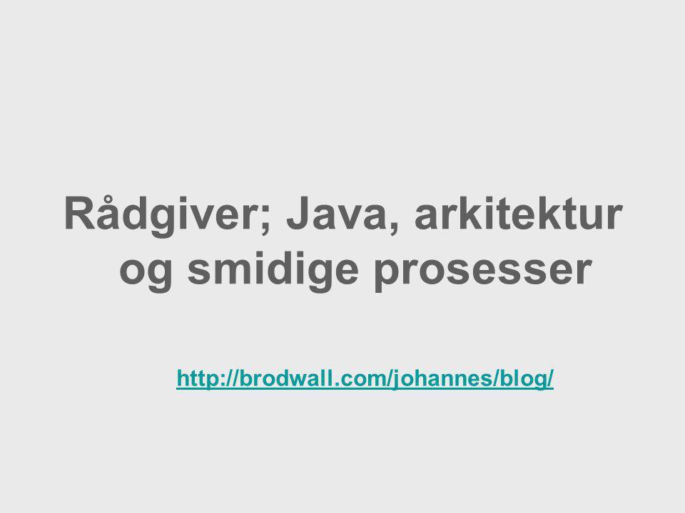 Rådgiver; Java, arkitektur og smidige prosesser http://brodwall.com/johannes/blog/