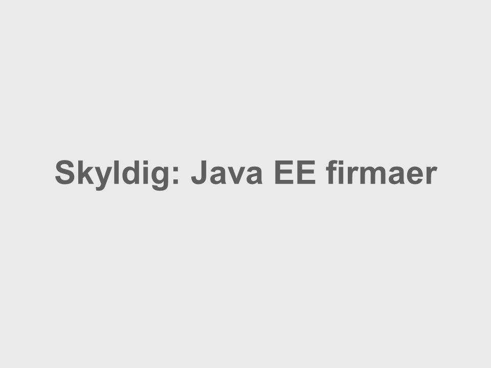 Skyldig: Java EE firmaer