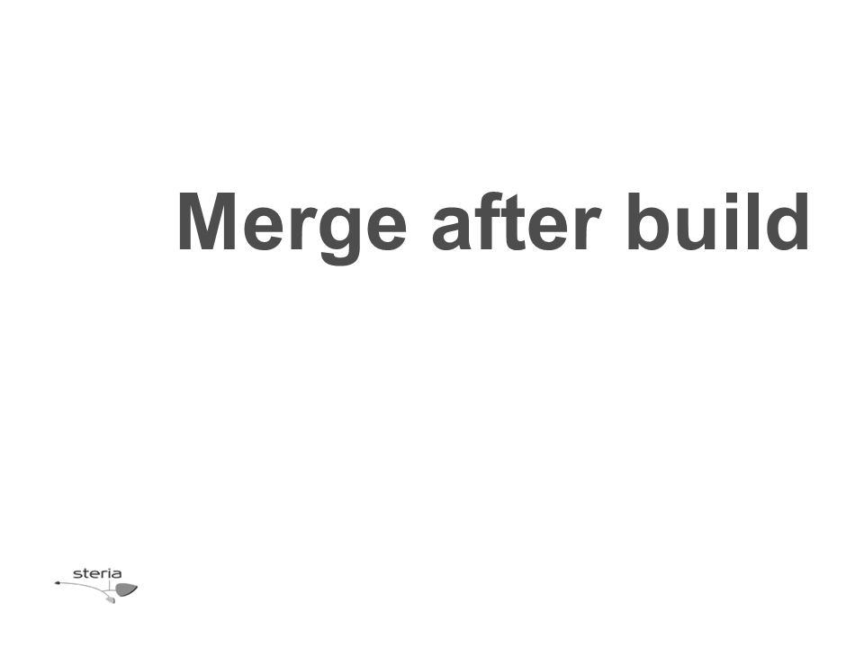 Merge after build