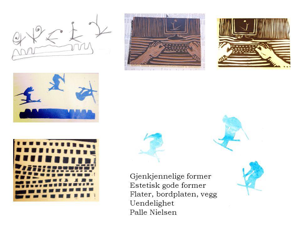 Gjenkjennelige former Estetisk gode former Flater, bordplaten, vegg Uendelighet Palle Nielsen