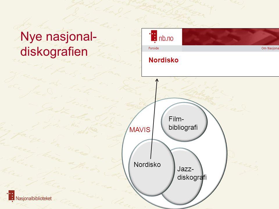 BIBSYS Norbok MAVIS Nordisko Jazz- diskografi Film- bibliografi Samisk Nasjonalbibliografien Nye nasjonalbibliografien