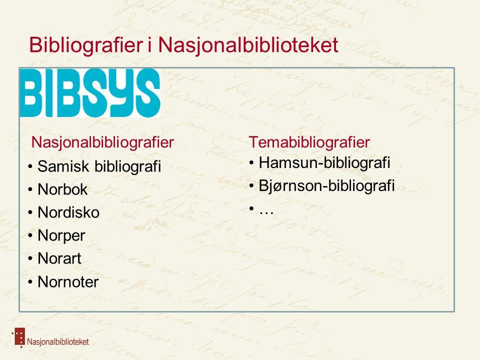 Bibliografiproduksjon i BIBSYS Samme bibliografiske grunndata – en post Bibliografiposter merkes Nasjonalbibliografiposter låses Samordning av registreringspraksis …i Nasjonalbiblioteket og i BIBSYS Nyregistrering og konvertering Ny funksjonalitet i BIBSYS
