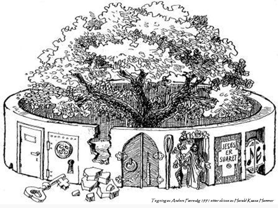 Tegning av Anders Færevåg 1991 etter skisse av Harald Kaasa Hammer
