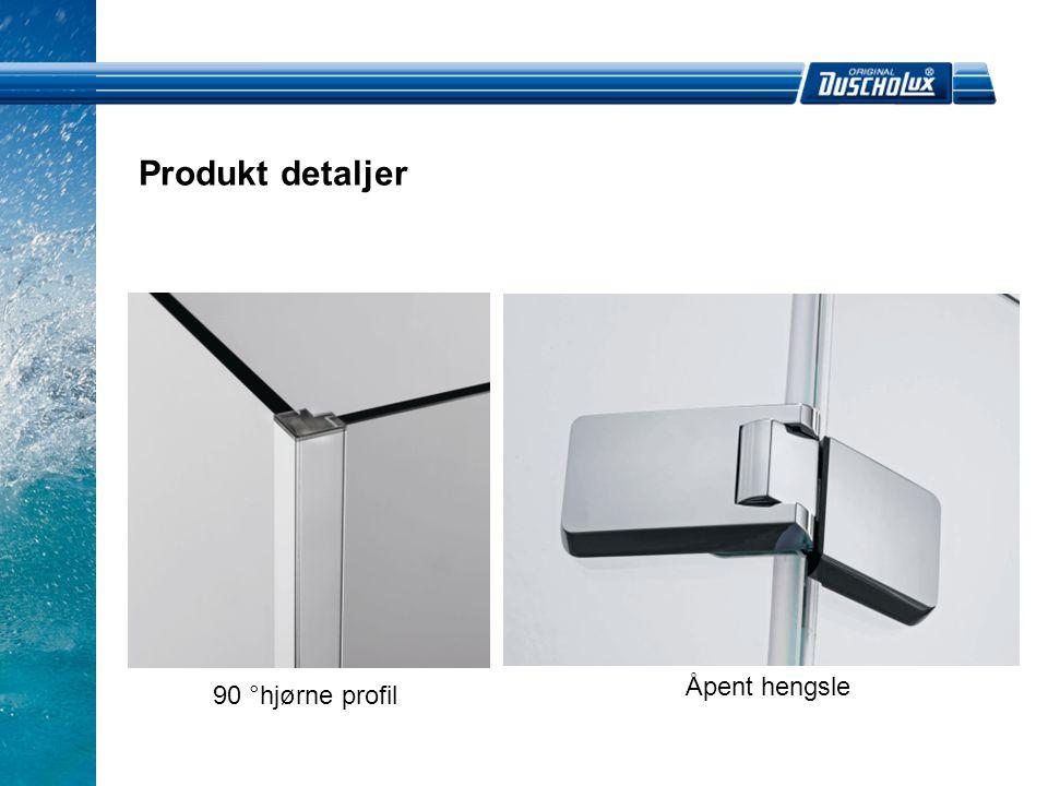 Produkt detaljer 90 °hjørne profil Åpent hengsle