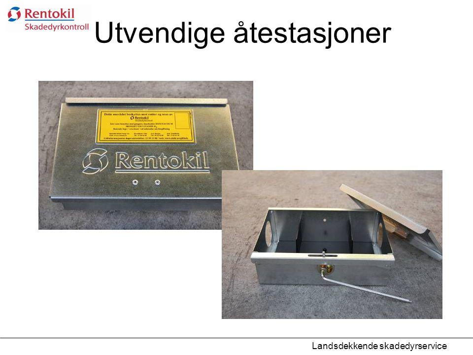 Utvendige åtestasjoner Landsdekkende skadedyrservice