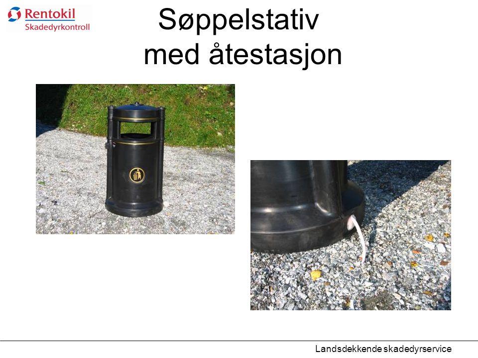 Søppelstativ med åtestasjon Landsdekkende skadedyrservice