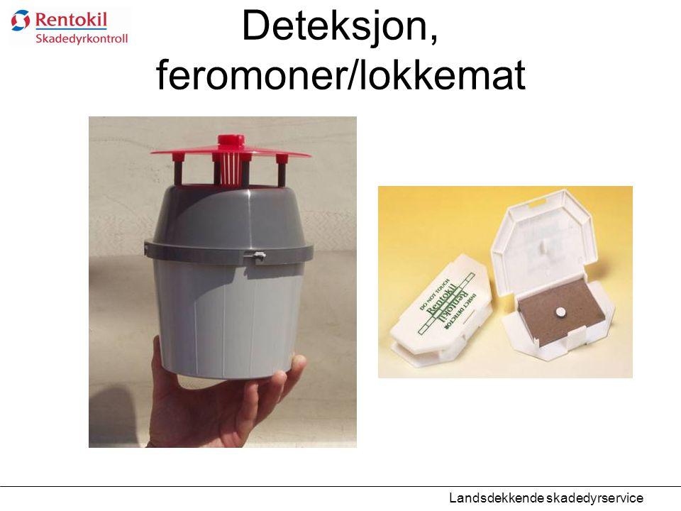 Deteksjon, feromoner/lokkemat Landsdekkende skadedyrservice