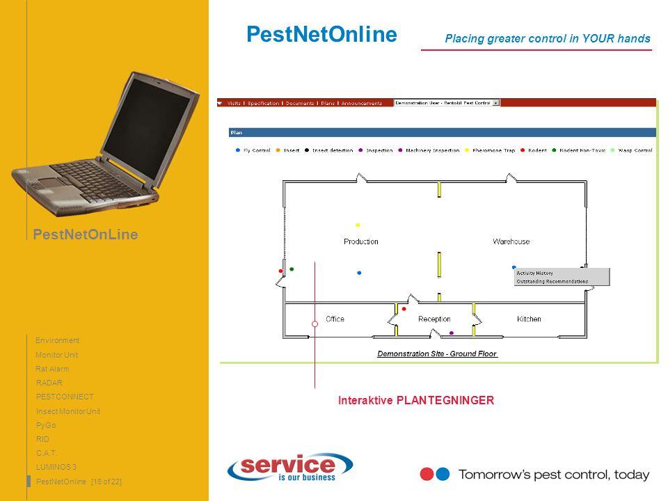 PestNetOnLine 16 PestNetOnLine Monitor Unit Rat Alarm RADAR PyGo RID C.A.T. LUMINOS 3 PestNetOnline [16 of 22] PESTCONNECT Insect Monitor Unit Environ