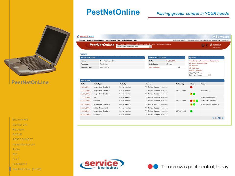 PestNetOnLine 5 PestNetOnLine Monitor Unit Rat Alarm RADAR PyGo RID C.A.T. LUMINOS 3 PestNetOnline [5 of 22] PESTCONNECT Insect Monitor Unit Environme